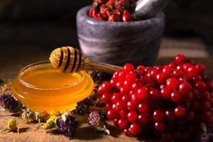 miel et herbes photo