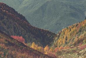montagnes colorées en automne photo