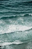 vue aérienne des vagues photo