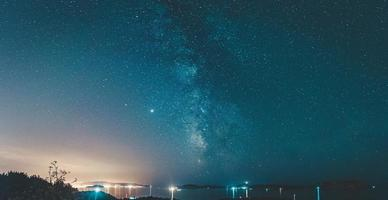 vue panoramique sur la voie lactée photo