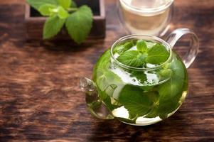 thé à la menthe. horizontal photo