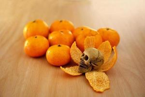orange avec squelette photo