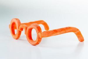 concept verres de carotte, vue des avantages. photo