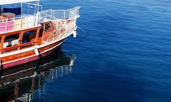 bateau nautique, chaloupe, bois - matériel, vieux, mer photo