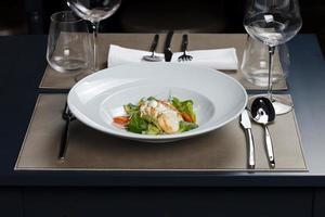 repas gastronomique photo