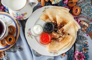 mardi gras. festival de crêpes russe. photo