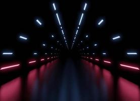 fond intérieur de vaisseau spatial tunnel