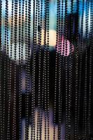 perles suspendues noires