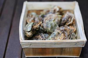 huîtres crues photo