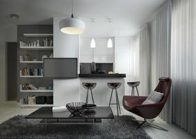 studio de style contemporain photo