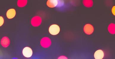 lumières défocalisées de la ville photo