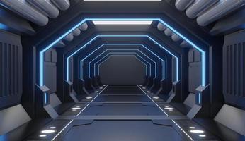 intérieur de vaisseau spatial meublé photo
