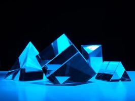 formes bleues abstraites photo