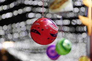 décorations d'hiver avec des ballons