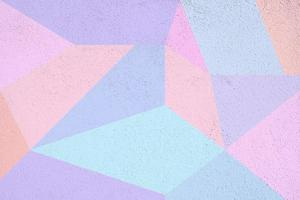 surface de béton géométrique colorée