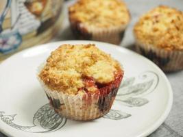 muffin maison sur assiette photo