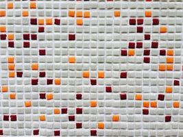 mur de mosaïque colorée