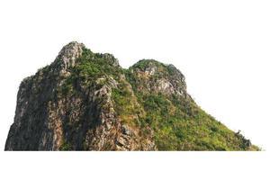 montagne sur fond blanc