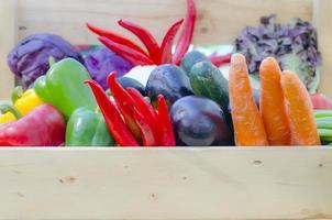 boîte à légumes de récolte photo