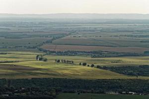 vue aérienne des terres agricoles