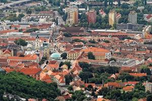 vue aérienne de la Hongrie