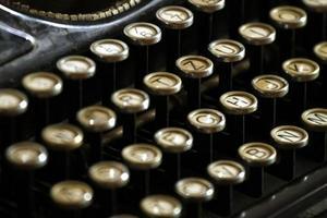 touches de machine à écrire vintage