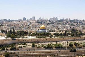 dôme du rocher en israël photo