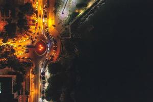 Photo aérienne de la République dominicaine de nuit
