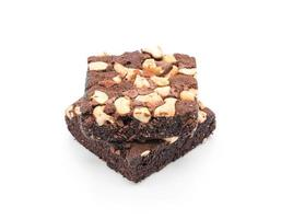brownies sur fond blanc