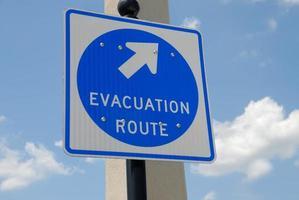 signe de l'itinéraire d'évacuation photo