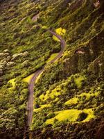 vue aérienne de la route