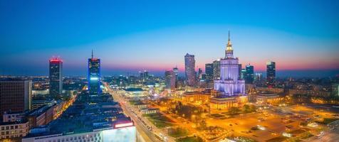 Photo aérienne des toits de la ville de Varsovie