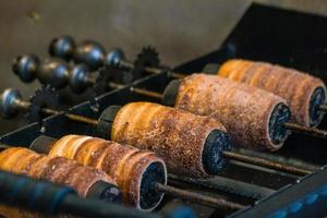 Tchèque traditionnel trdelnik à Prague République tchèque photo