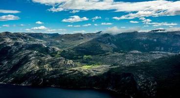 chaîne de montagnes en norvège