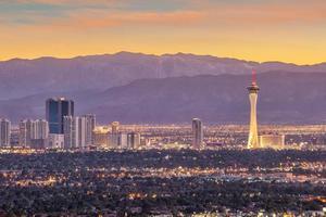 Vue panoramique du paysage urbain de las vegas photo