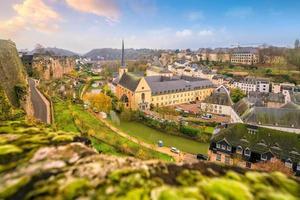 Toits de la vieille ville de la ville de luxembourg à partir de la vue de dessus