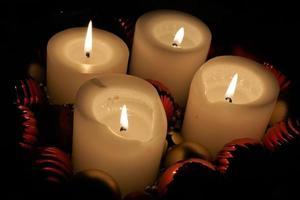 quatre bougies de l'Avent photo