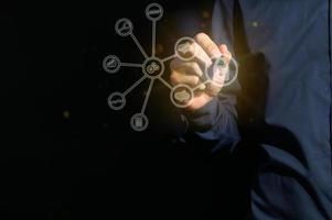 réseau d'icônes numériques