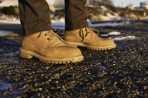 bottes de travail marron clair photo