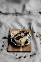 brie frais cuit au four