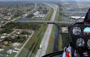 vue depuis un hélicoptère