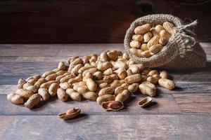 cacahuètes dans un sac