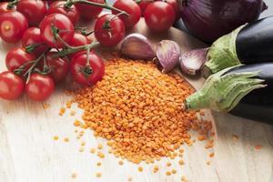 lentilles et légumes photo