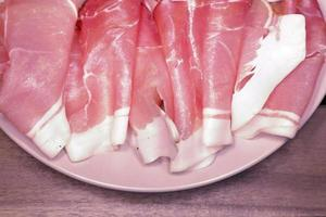 jambon de porc tranché photo