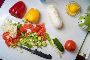 légumes dans la cuisine photo