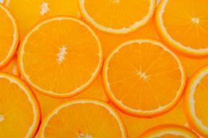 tranches de fruits orange photo