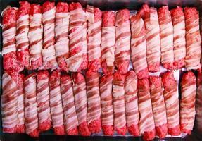 brochettes de bacon photo