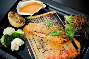 saumon grillé photo