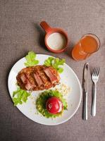 viande de veau au bacon