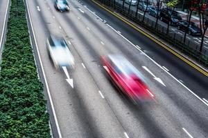 rue et route de hong kong photo